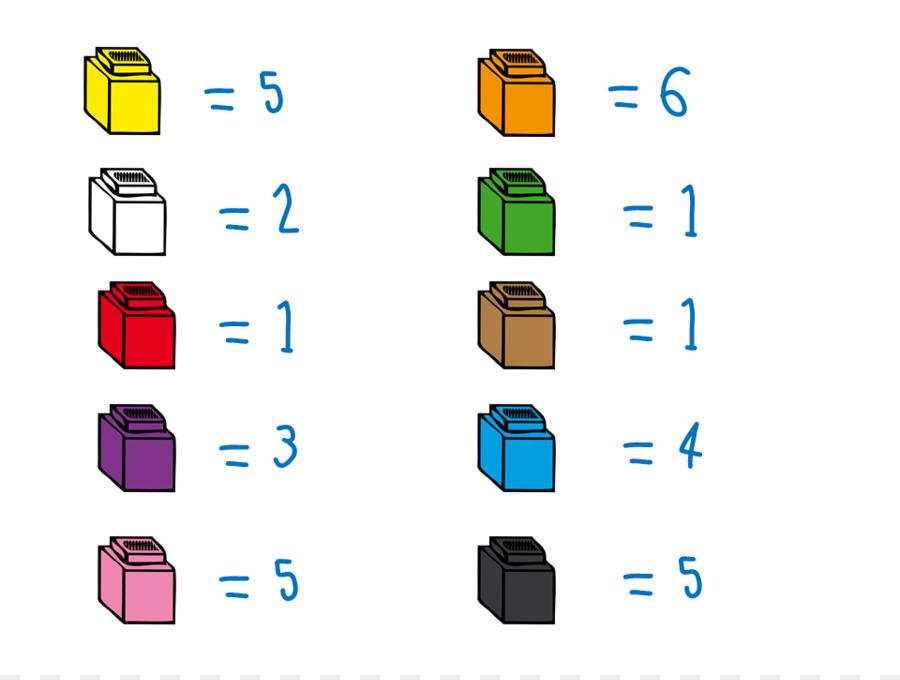 El Cubo de Rubik de Contar el Número de Clip art - Conteo De Cubos ...