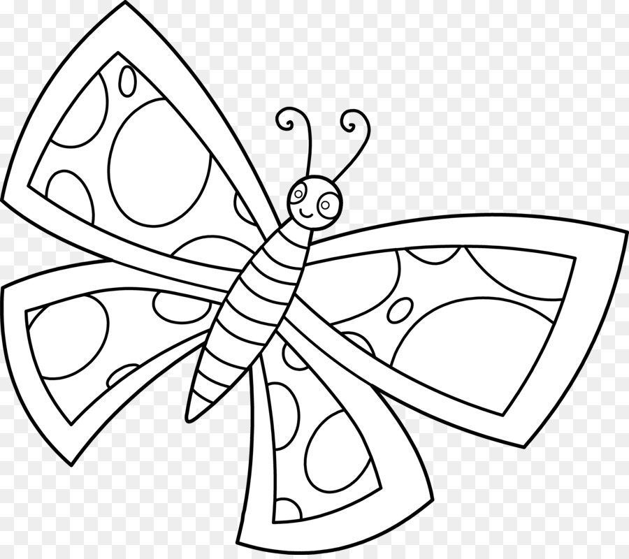 butterfly black and white clip art cute butterfly line