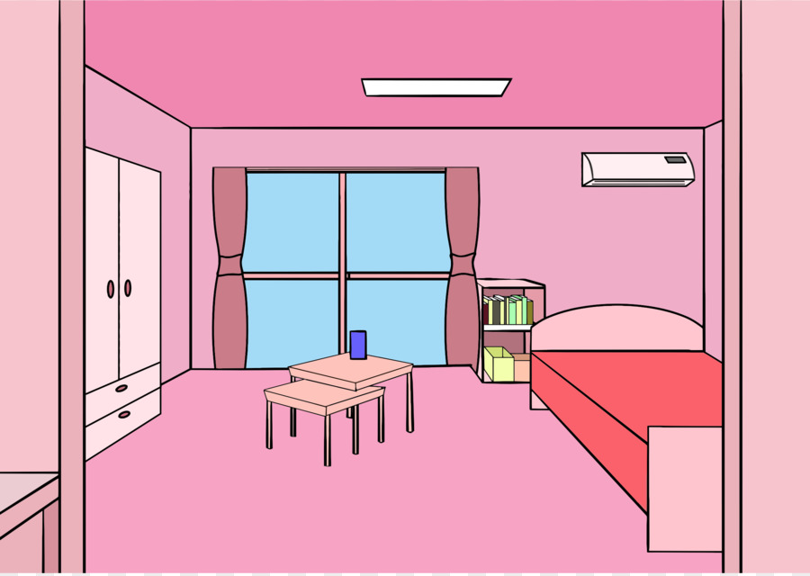 Zimmer Kostenlose Clip Art Grosses Bett Cliparts Png Herunterladen