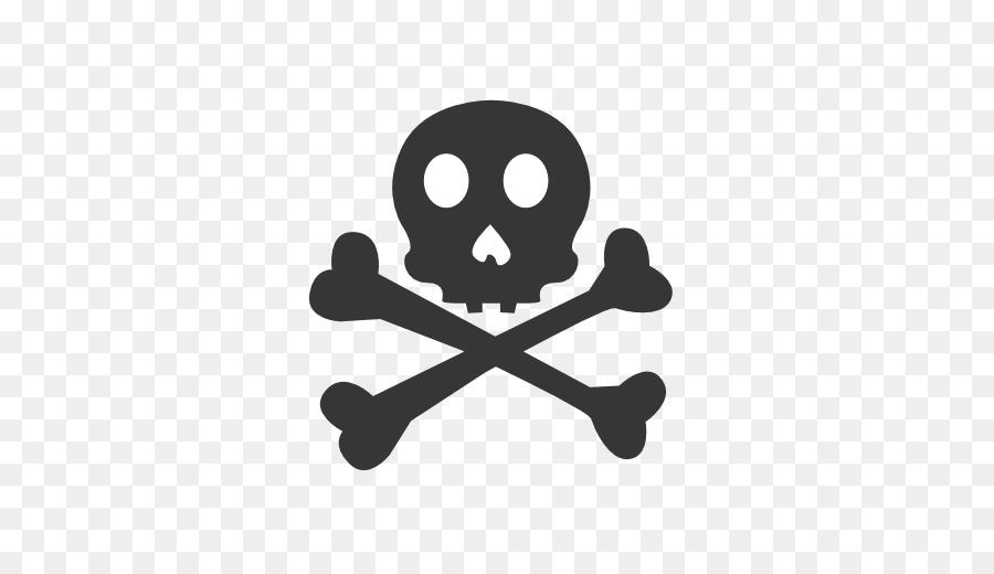 Silhouette Skull Symbol Line Skull Crossbones Png Download 512