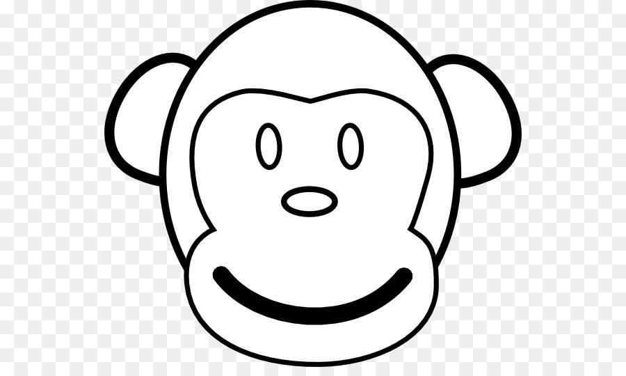 Libro para colorear Mono Cara de Chimpancé Clip art - De Dibujos ...