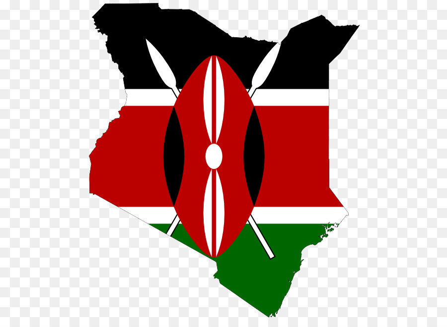 Flag Of Kenya Map Clip Art