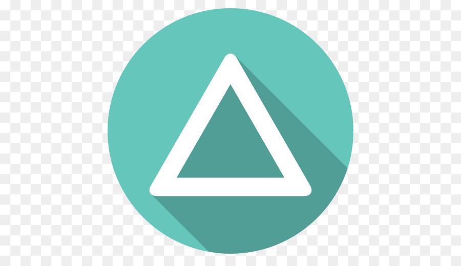 Triangle Symbol Aqua Playstation Triangle Png Download 512512
