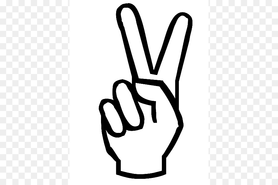 Peace Symbols V Sign Hand Drawing Clip Art Peace Sign Download