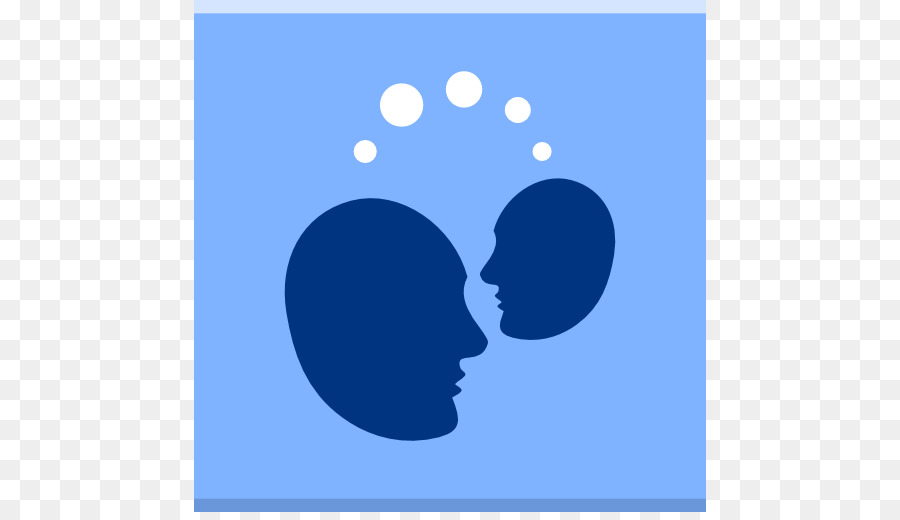 Blue Human Behavior Atmosphere Silhouette Point Apps Telepathy Png