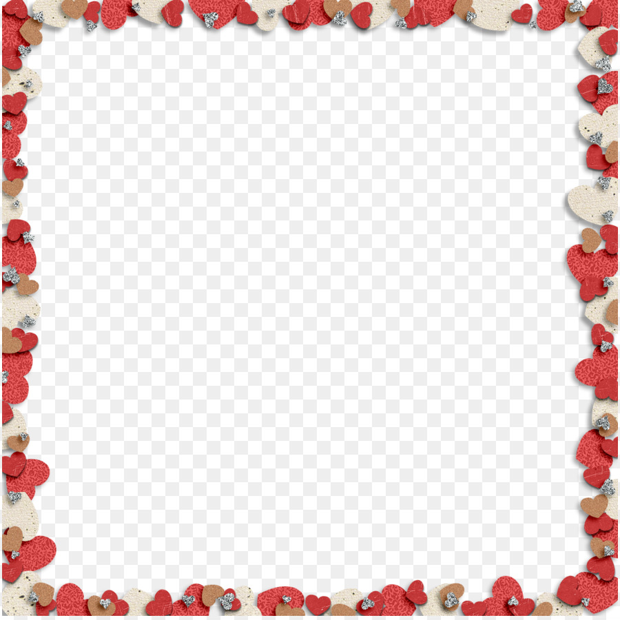 Heart Valentine\'s Day Clip art - Frame Heart Png Hd png download ...
