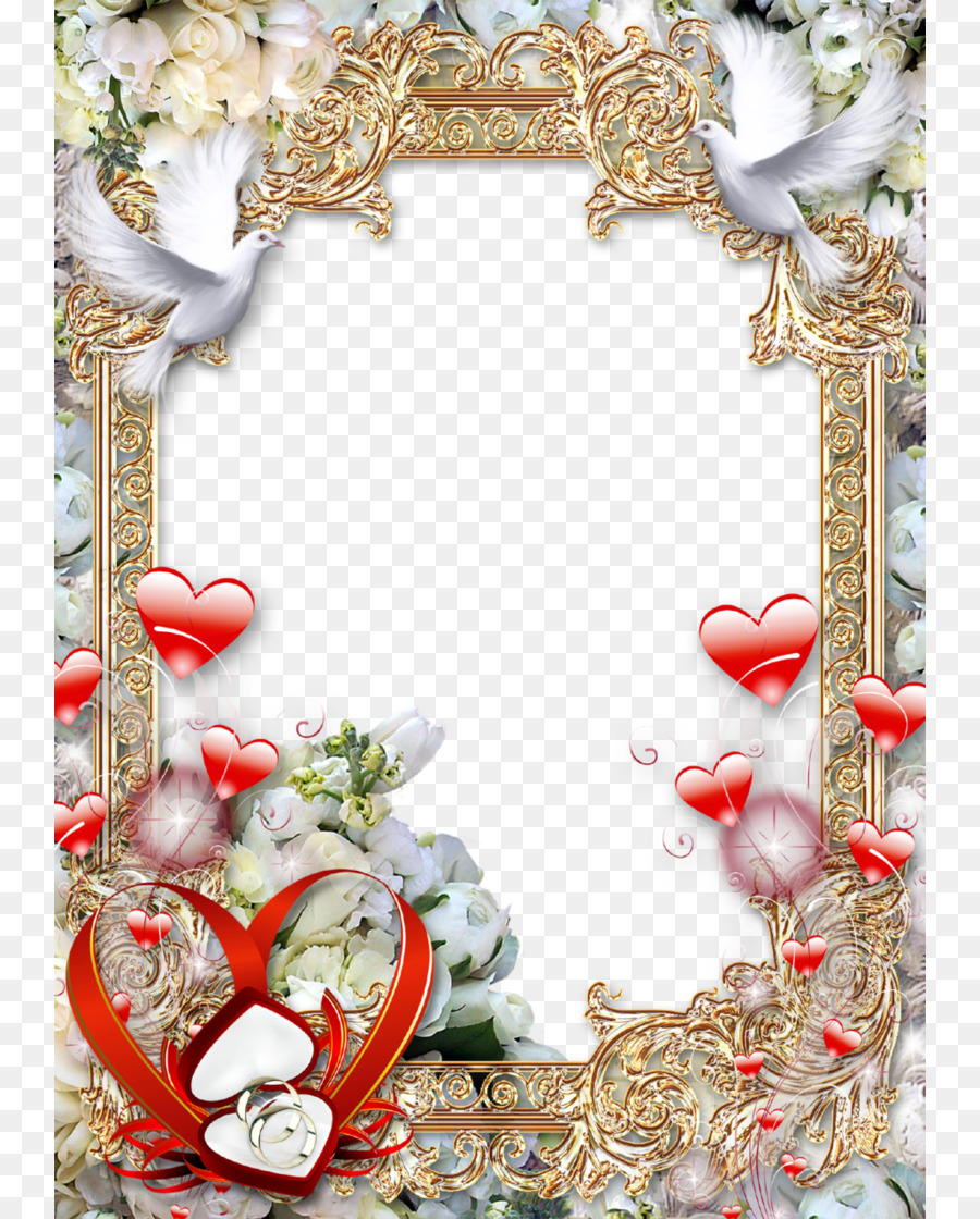 Wedding photography Picture Frames - Wedding Frame Clipart PNG png ...