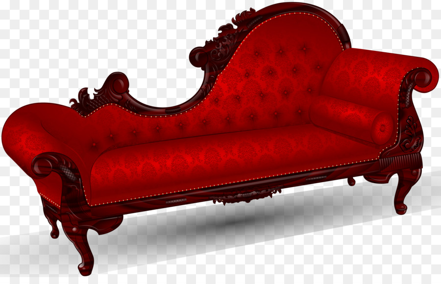 Victorian Era Foot Rests Couch Chaise Longue Fainting Room   Red Old Couch  Png