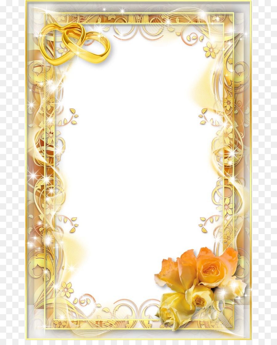 Wedding invitation Picture Frames Clip art - Png Wedding Frame ...