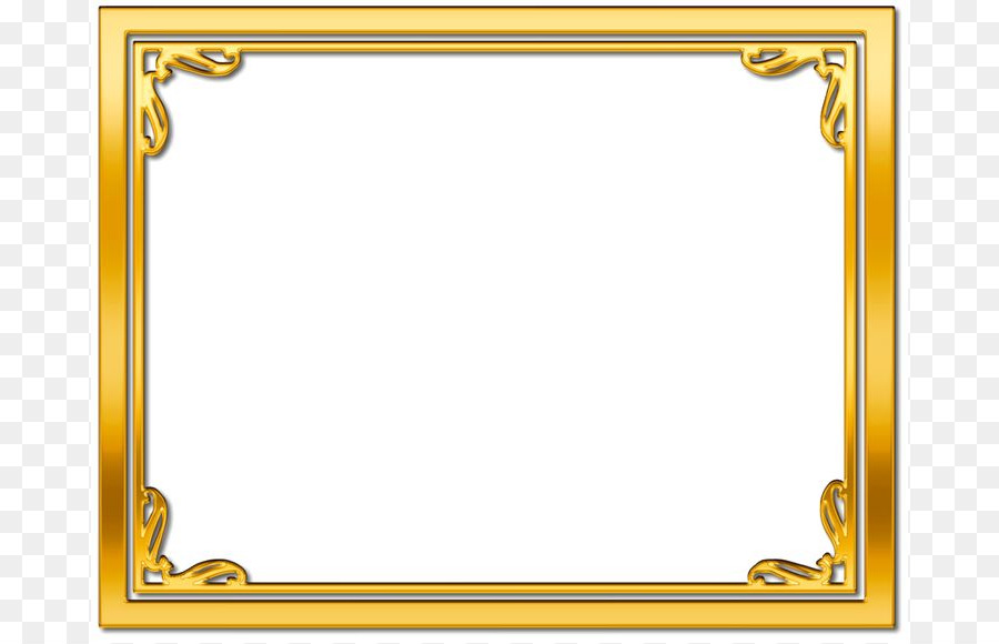 Picture Frames Gold Desktop Wallpaper Clip art - Frame Gold ...