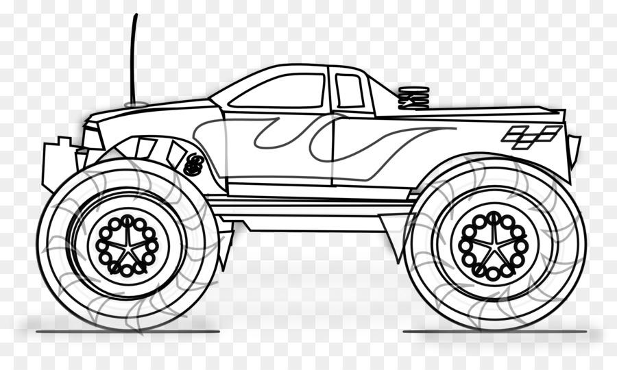 Truk Pickup Mobil Truk Rakasa Buku Mewarnai Truk Gambar Untuk Anak