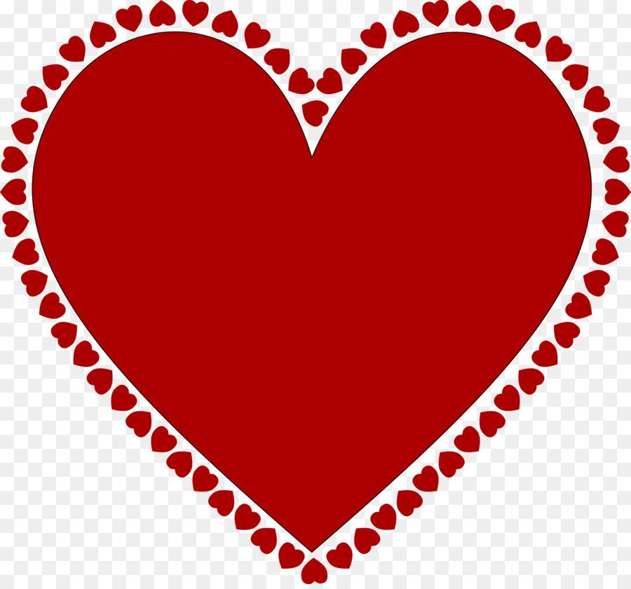 Heart Desktop Wallpaper Clip art - Red Frame Heart Png png download ...