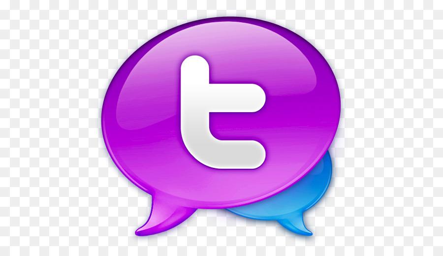 Purple Symbol Violet Large Twitter Logo Png Download 512512