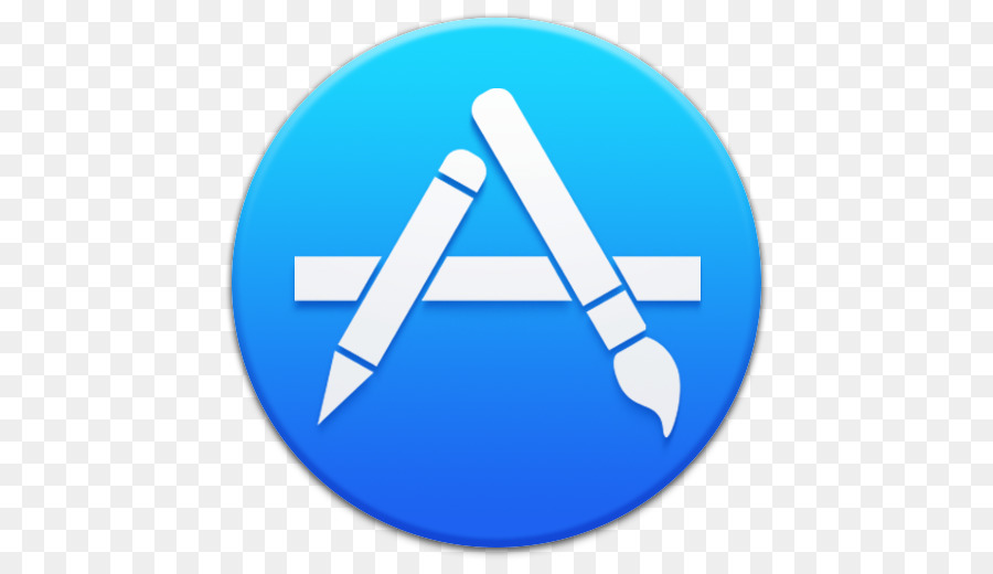 Blue Computer Icon Symbol Apple Appstore Png Download 512512