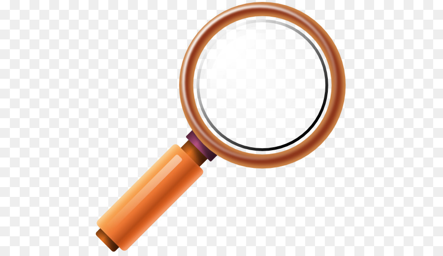 Magnifying glass orange. Clipart png download free