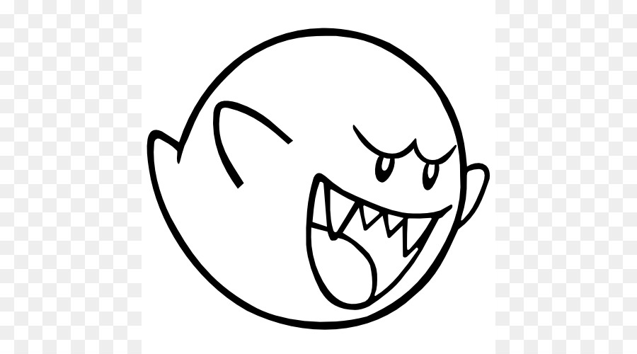 Super Mario Bros. Wii Bowser - King Boo Coloring Pages png download ...