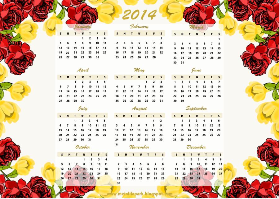 Borders and Frames Floral design Calendar Rose Flower - Free ...