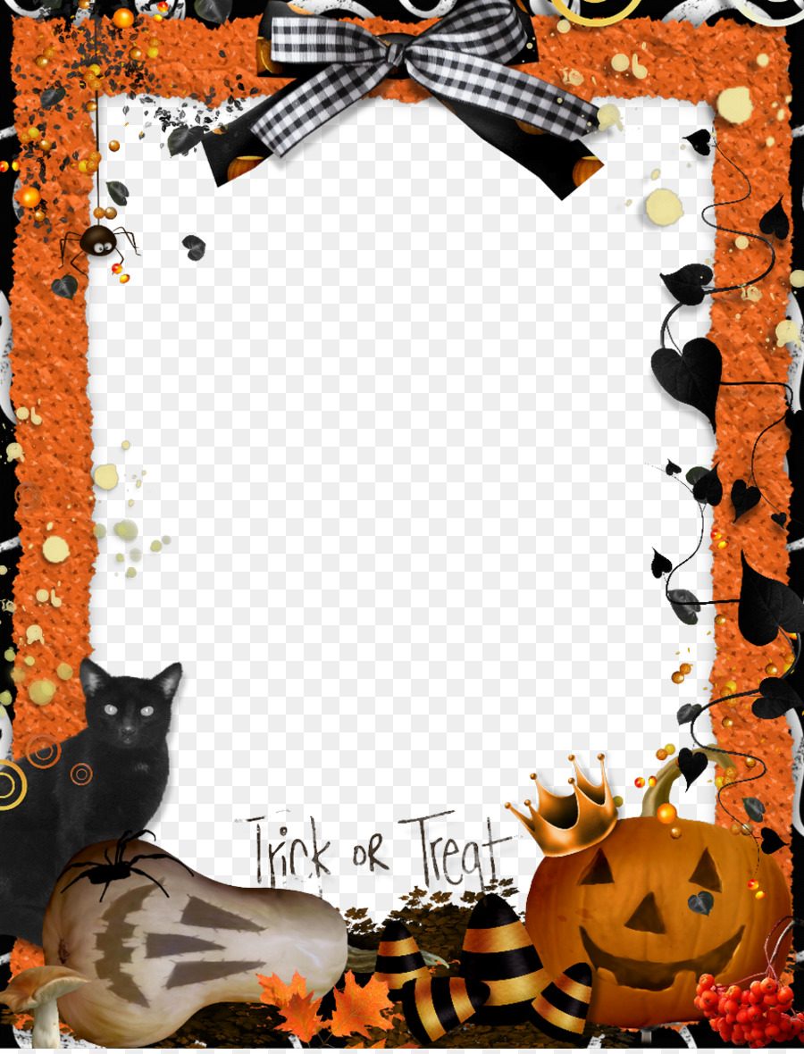 Halloween Picture Frames Trick-or-treating Craft Clip art - Download ...
