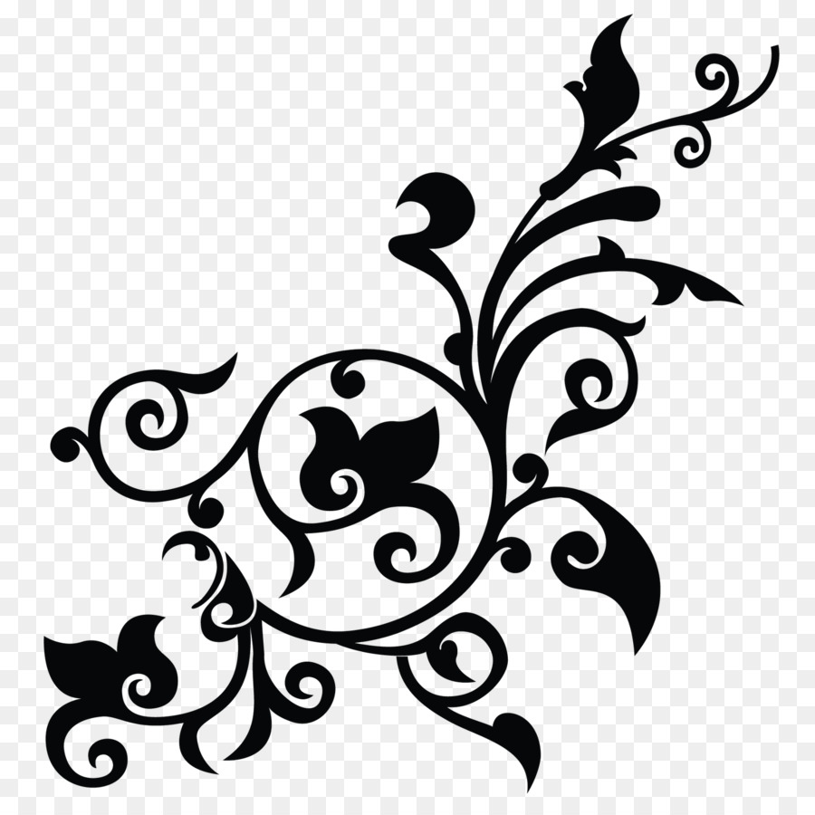 Black And White Flower Png Download 16001600 Free Transparent