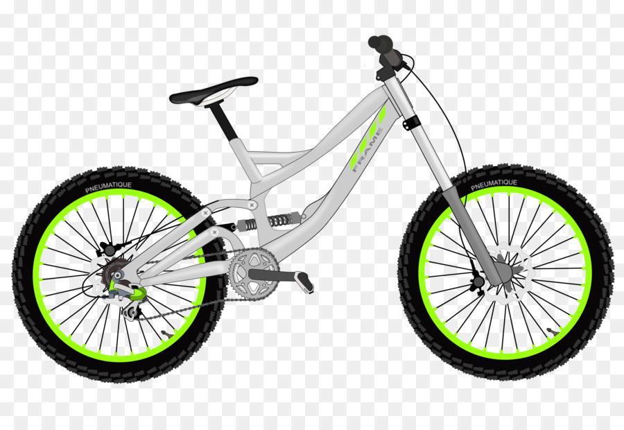 Downhill Mountain Biking Bicycle Bike Clip Art