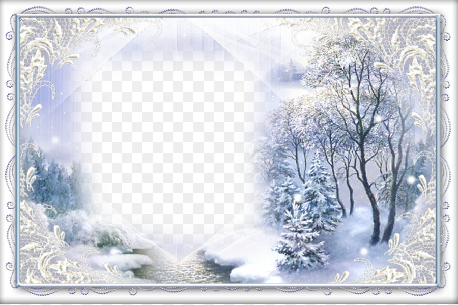 Picture Frames Light Winter - PNG Image Winter png download - 1200 ...
