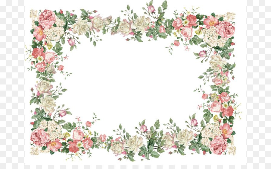 Borders And Frames Flower Picture Clip Art