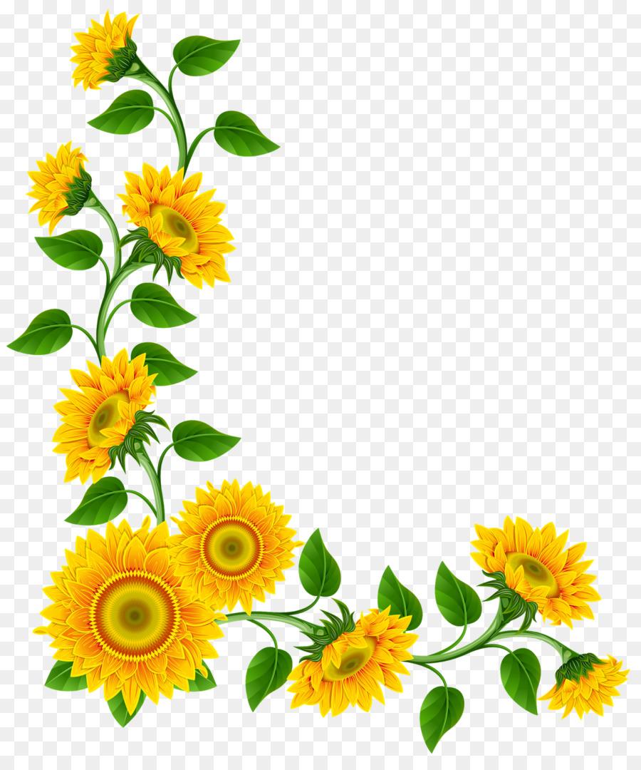 Sunflower Corner Png png download - 1346*1600 - Free ...