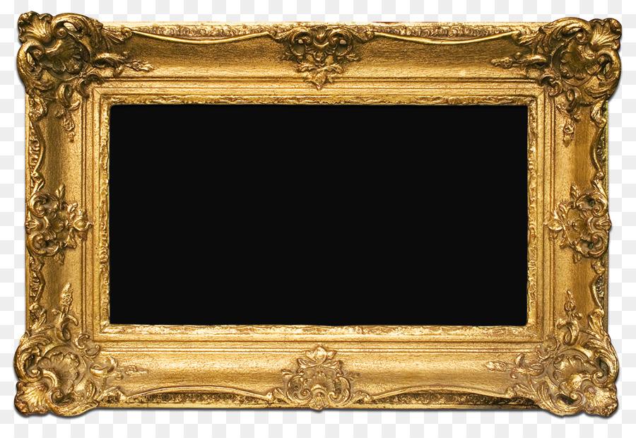 Picture Frames Gold Decorative arts - PNG Free Frame Gold Download ...