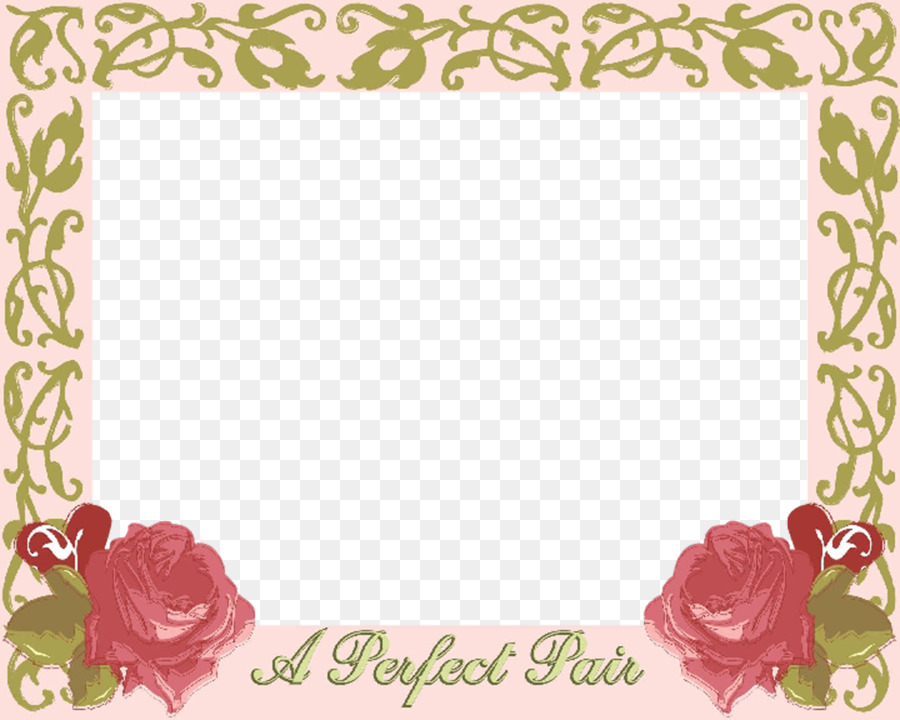 Wedding invitation Picture Frames Garden roses - Image PNG Wedding ...