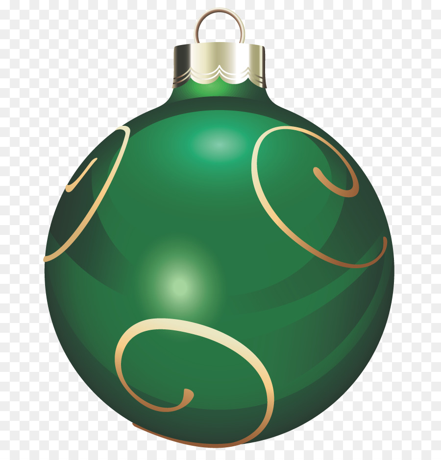 Christmas Ornament Green Clip Art