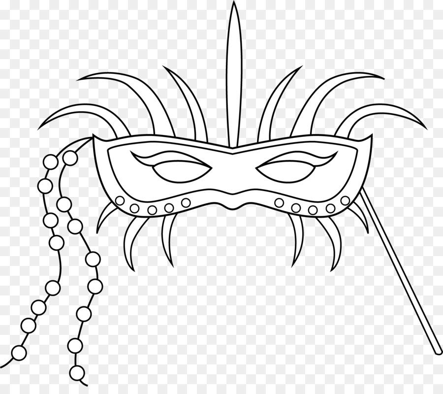 Libro para colorear de Mardi Gras Máscara Doodle Niño - negro ...