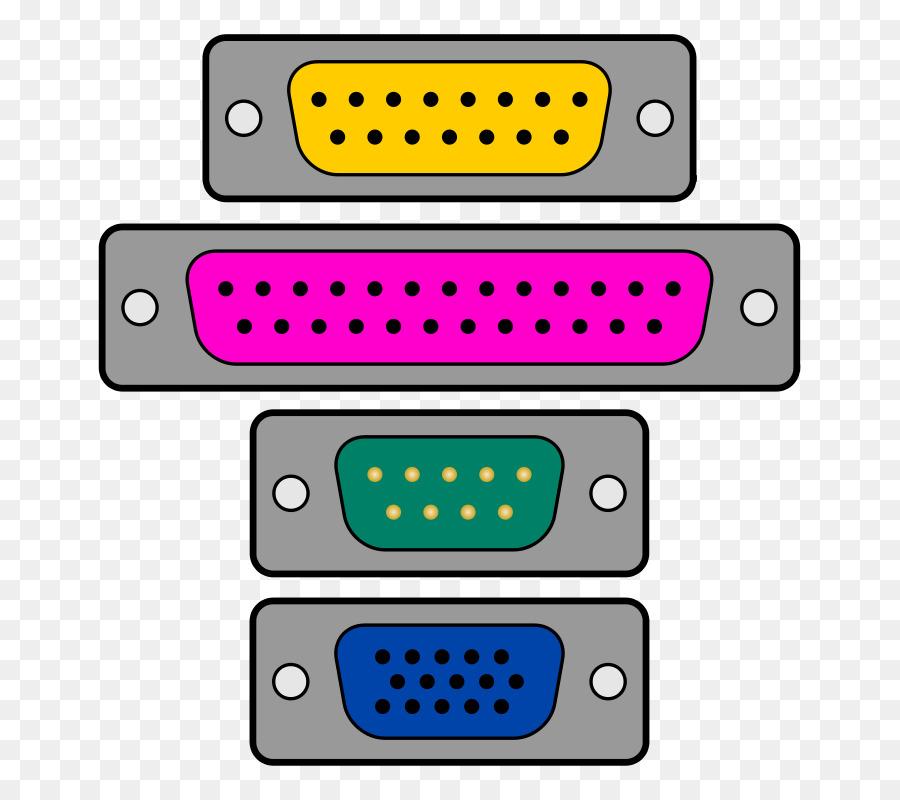 VGA connector Computer port Serial port Parallel port Clip art ...