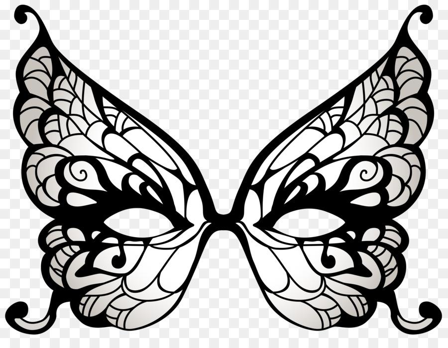 Batman Butterfly Masquerade Ball Mask Clip Art   Black Carnival Cliparts