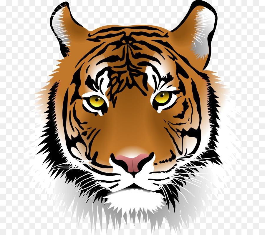 bengal tiger sumatran tiger clip art tiger face clipart png rh kisspng com bengal tiger clipart Elephant Clip Art