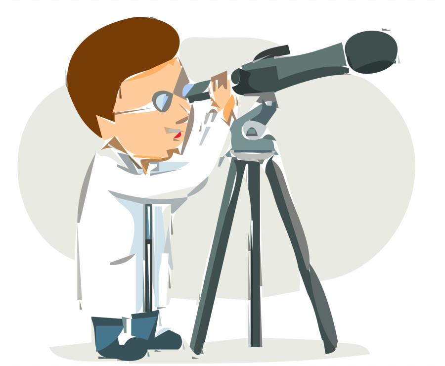 Scientist Small Telescope Astronomy Clip Art