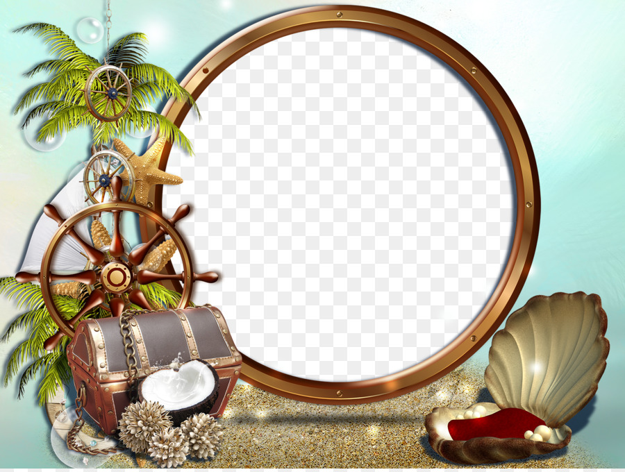 Picture Frames Sea Mirror Computer Software Conch Png Download
