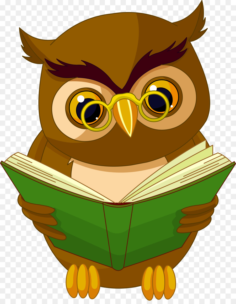 Bebé Búhos de la Lectura de libros Clip art - las lechuzas Formatos ...