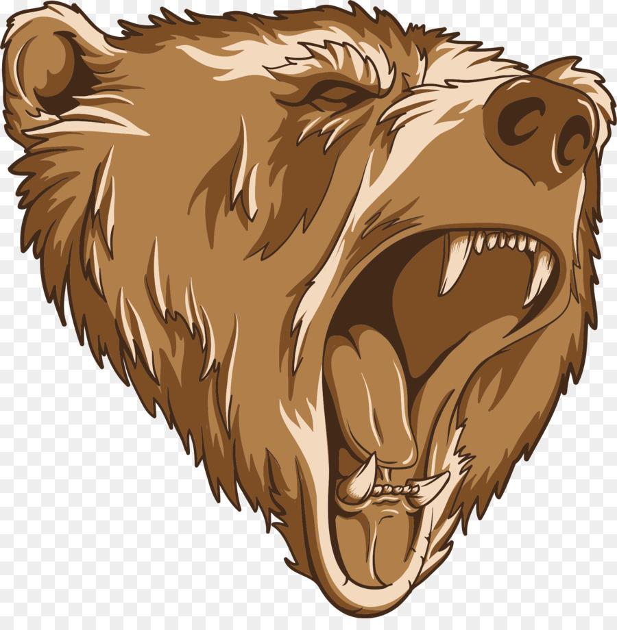 Bear roaring. Cartoon png download free