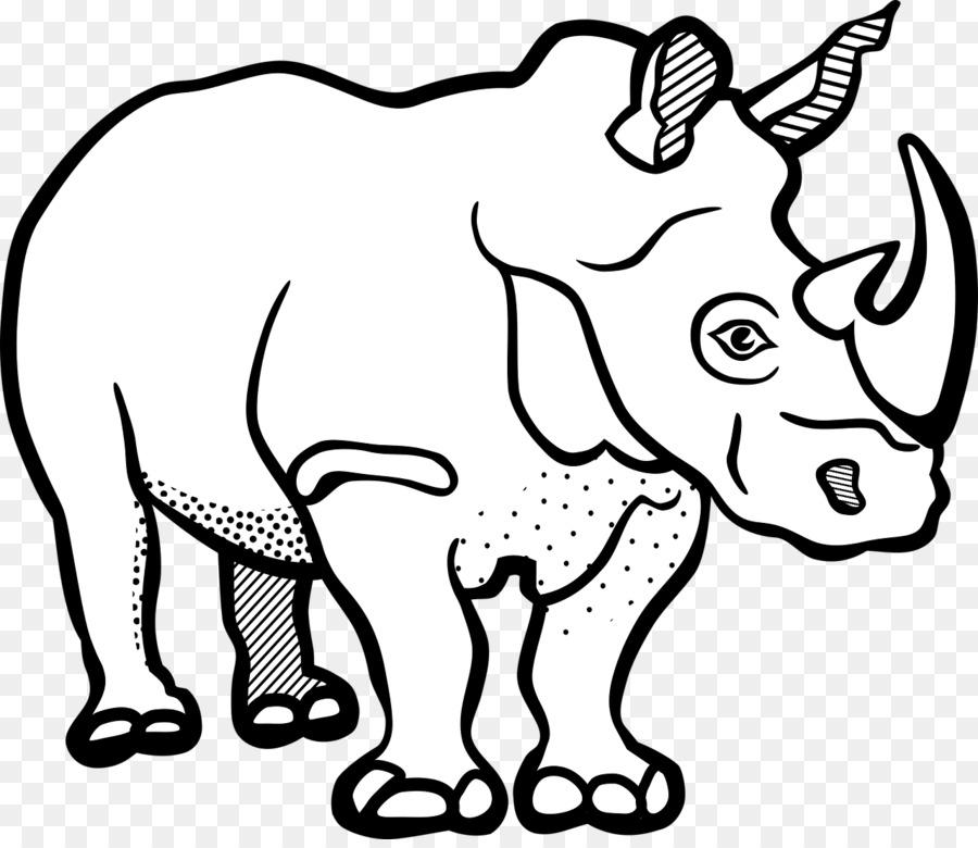 rhinoceros line art drawing clip art rhino png download 1280 rh kisspng com cute rhino clipart rhino clipart free