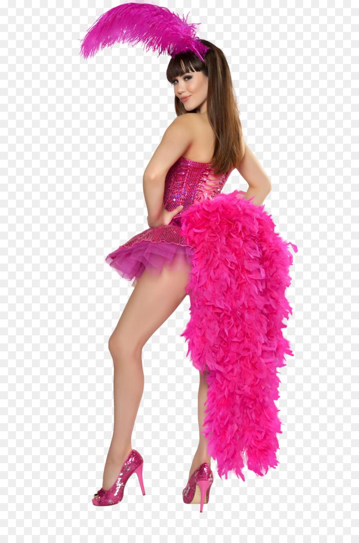 halloween costume flamingo feather boa pink - flamingo png download