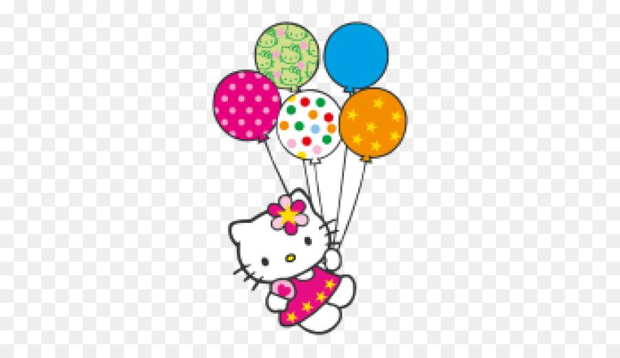 Hello Kitty de la torta de Cumpleaños del Gato Clip art - Hello ...