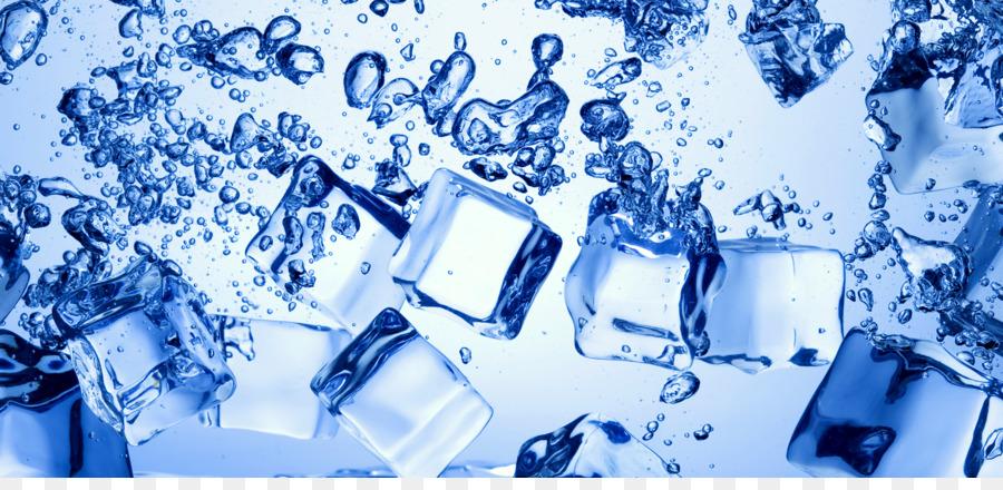 Ice Cube Water Desktop Wallpaper Drop