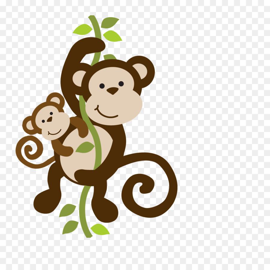 Wedding invitation Sock monkey Baby shower Party - monkey png ...