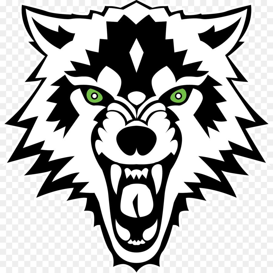 Gray wolf decal sticker white american black bear wolf