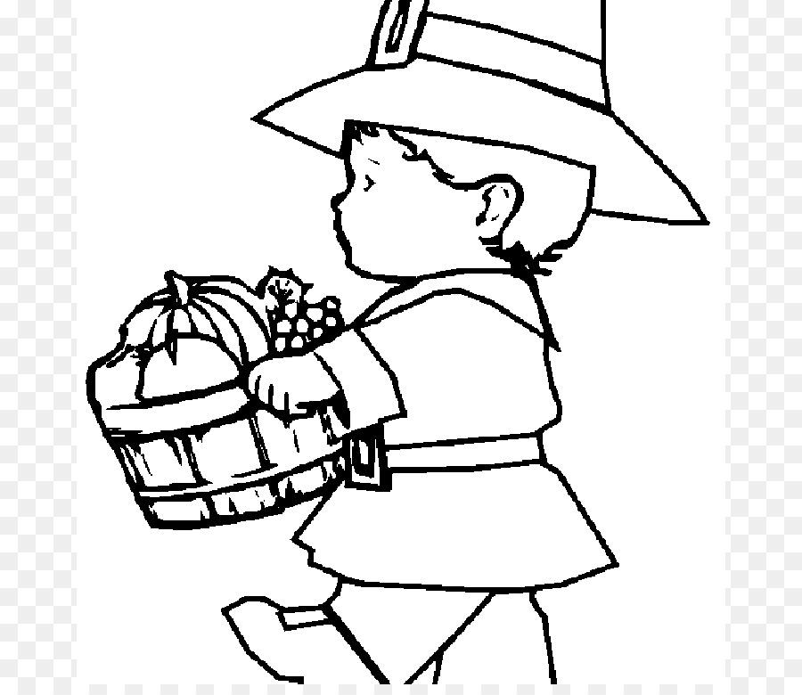 Libro de colorear para los Peregrinos de acción de gracias Chico ...
