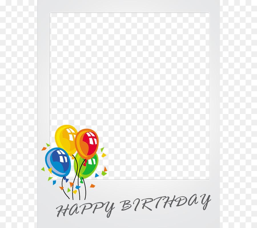 Balloon Birthday Stock photography Clip art - Free Birthday Frames ...