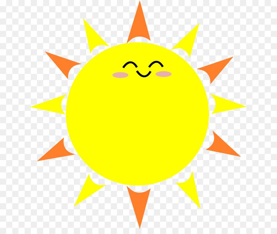 Cartoon sun clip art
