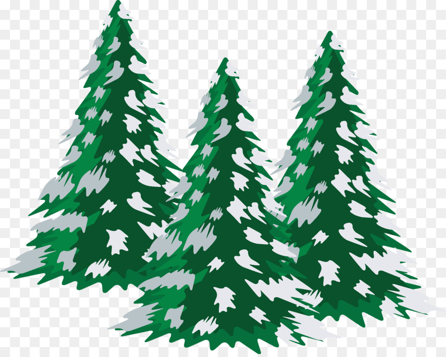 Snow tree. Christmas winter background png