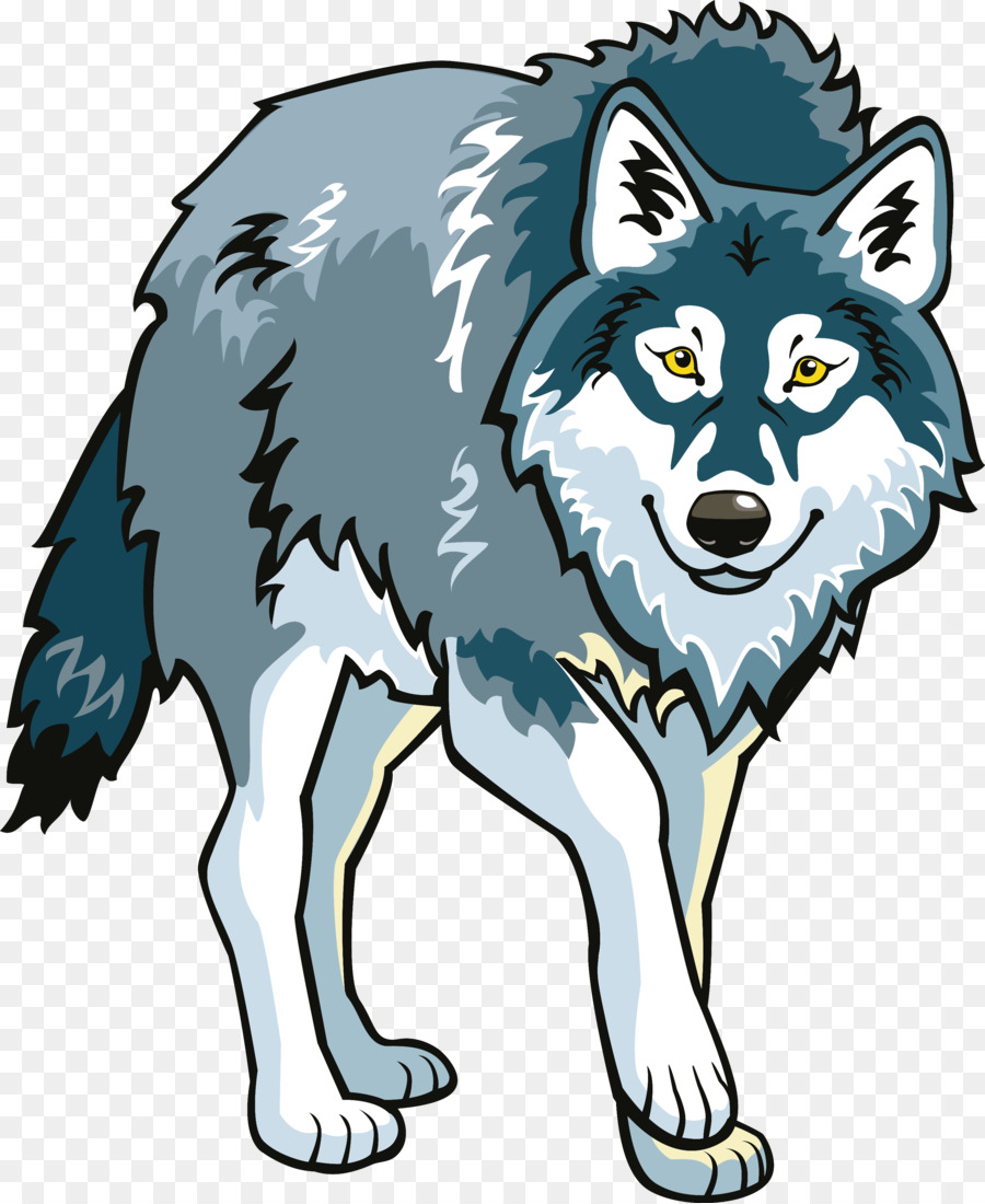 gray wolf arctic fox animation clip art wolf png download 2946 rh kisspng com clip art wolf face wolf black and white clipart