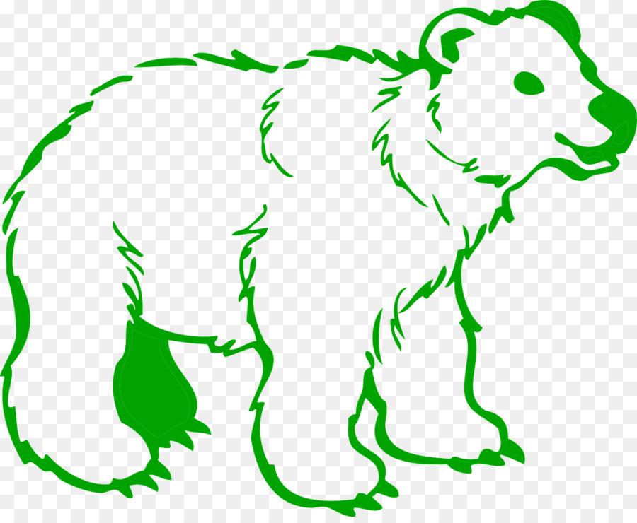 Oso Polar oso Kodiak Dibujo para Colorear libro - oso Formatos De ...
